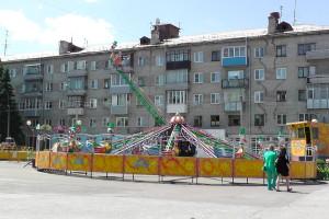 Аттракцион, Автодром, Парк аттракционов на площади ДК АВЗ в Новоалтайске