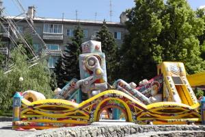 Батут, Автодром, Парк аттракционов на площади ДК АВЗ в Новоалтайске