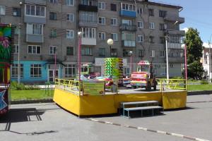 Детский автодром, Автодром, Парк аттракционов на площади ДК АВЗ в Новоалтайске