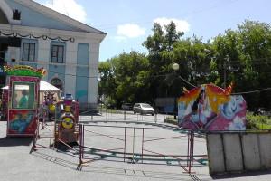 Паровозик, Парк аттракционов на площади ДК АВЗ в Новоалтайске