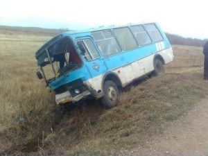 ДТП авария автобус перевернулся