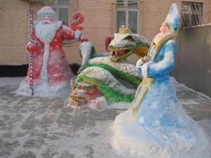 Снежные фигуры зима ЖКХ