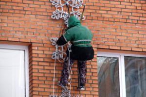 новый год Новоалтайск оформление здания