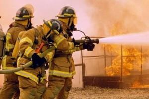 пожарный спасатели пожар возгорание