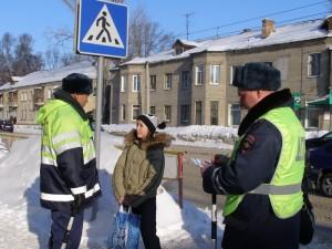 дети пешеходный переход инспекторы ДПС