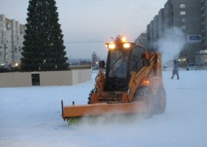коммунальные службы новый год снегоочиститель