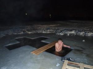 крещение купание прорубь