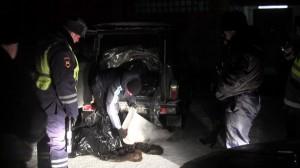 полиция сотрудники ДПС шкуры пушистые животные