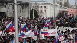 Митинг в Барнауле 13.03.2014 - Фото