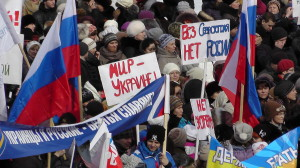 Митинг в поддержку жителей Крыма в Барнауле 13.03.2015