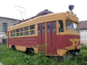 старинный трамвай музей Барнаул