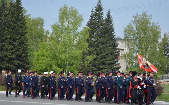 День Победы 9 мая 2014 года в Новоалтайске - казаки