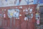 Дикая расклейка объявлений в Новоалтайске