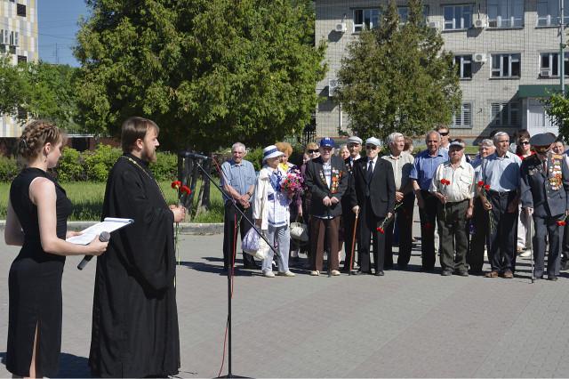 Новоалтайск. Митинг памяти и скорби 2014. Речь отца Вячеслава.