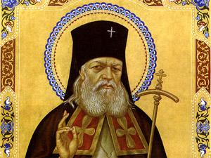 Икона с частицей мощей святого Луки Войно-Ясенецкого