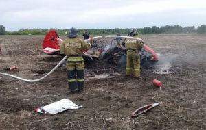 Крушение самолёта рядом с Новоалтайском 16-06-2018