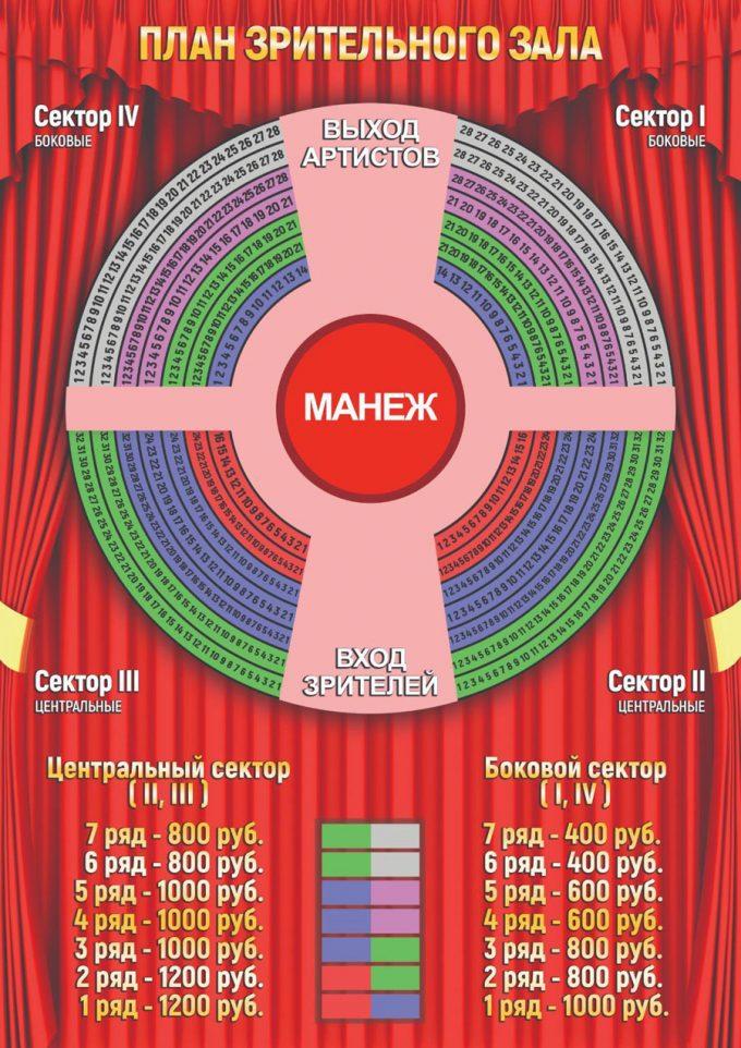 План зрительного зала, места и цены на билеты